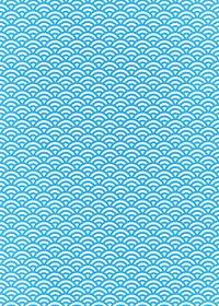 青と白の青海波柄A4サイズ背景素材