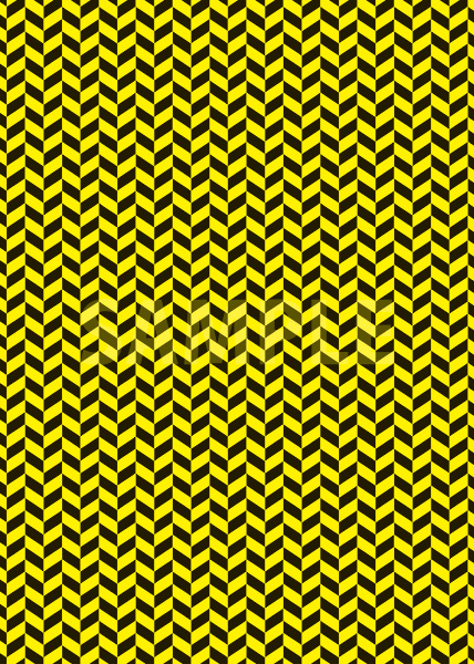 黒と黄色のヘリンボーン柄A4サイズ背景素材