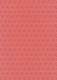斜めに傾いた赤色の青海波柄A4サイズ背景素材