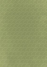 斜めに傾いた緑色の青海波柄A4サイズ背景素材