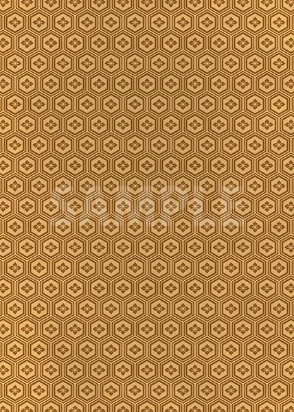 茶色の亀甲柄A4サイズ背景素材
