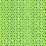黄色と青の組亀甲柄A4サイズ背景素材