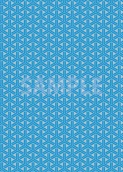 青とグレーの組亀甲柄A4サイズ背景素材
