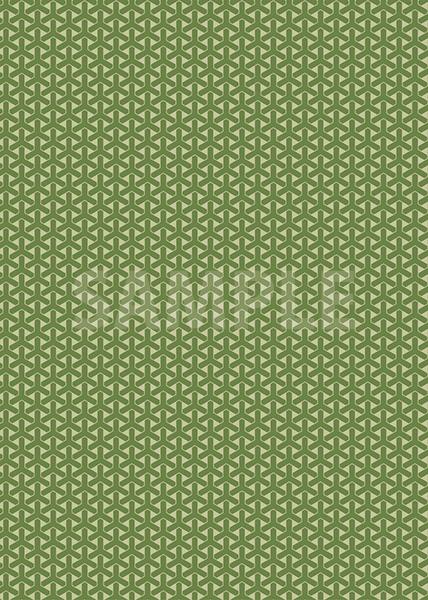 緑色の組亀甲柄A4サイズ背景素材