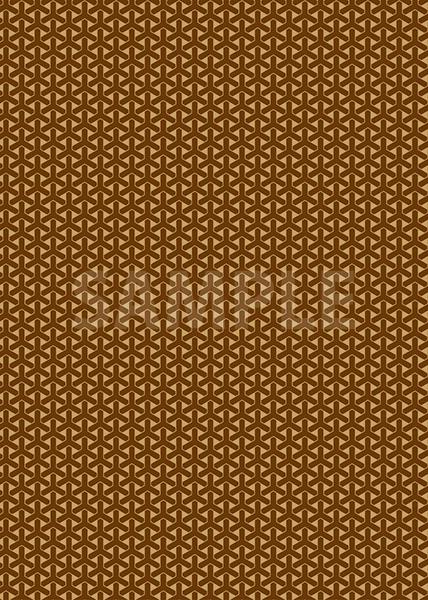 茶色の組亀甲柄A4サイズ背景素材