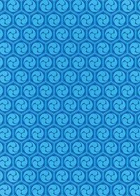 青色の巴柄A4サイズ背景素材