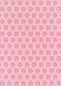 ピンクと薄黄色の巴柄A4サイズ背景素材