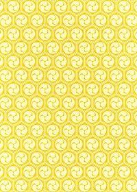 黄色の巴柄A4サイズ背景素材