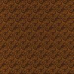 茶色い唐草模様柄A4サイズ背景素材