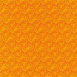 オレンジ色の唐草模様柄A4サイズ背景素材