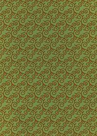 緑と茶色の唐草模様柄A4サイズ背景素材