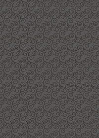 黒い唐草模様柄A4サイズ背景素材データ