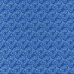 青い唐草模様柄A4サイズ背景素材