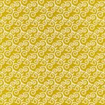 黄色い唐草模様柄A4サイズ背景素材