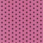 ピンクと黒の麻の葉柄A4サイズ背景素材