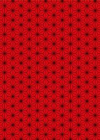 赤と黒の麻の葉柄A4サイズ背景素材