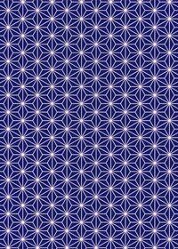 紺色の麻の葉柄A4サイズ背景素材
