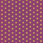 紫と黄色の麻の葉柄A4サイズ背景素材