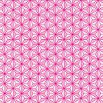 ピンク色の麻の葉柄A4サイズ背景素材