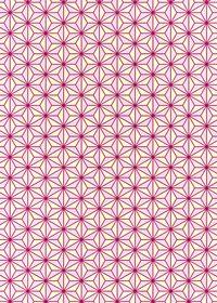 ピンクと薄黄色の麻の葉柄A4サイズ背景素材