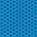 青い麻の葉柄A4サイズ背景素材