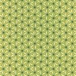 緑色の麻の葉柄A4サイズ背景素材