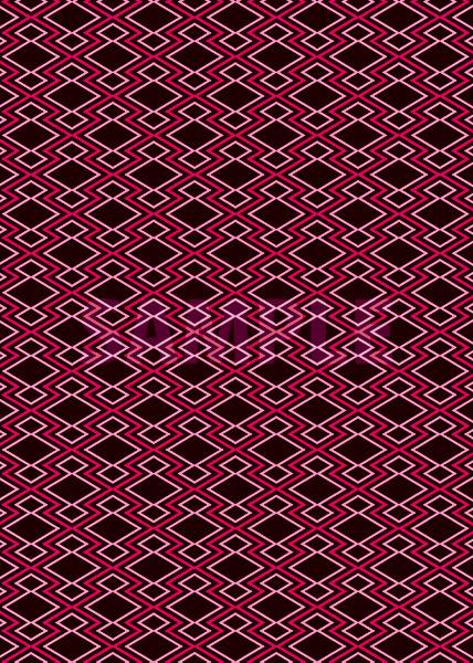 黒とピンク色の松皮菱柄A4サイズ背景素材