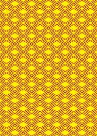 黄色と赤の松皮菱柄A4サイズ背景素材