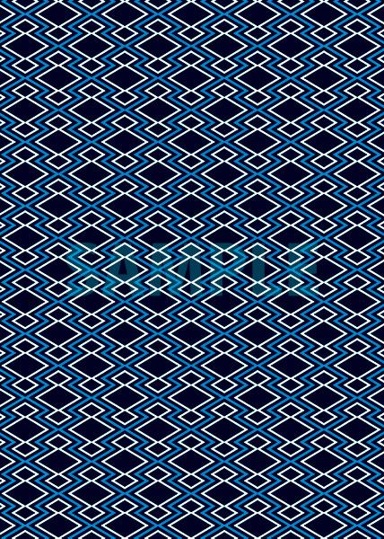 黒と青の松皮菱柄A4サイズ背景素材