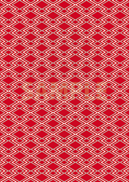 赤とグレーの松皮菱柄A4サイズ背景素材