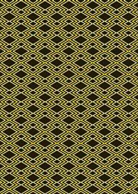 黄色と黒の松皮菱柄A4サイズ背景素材