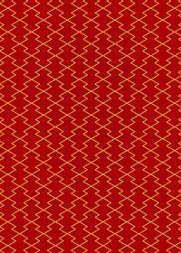 赤と黄色の松皮菱柄A4サイズ背景素材