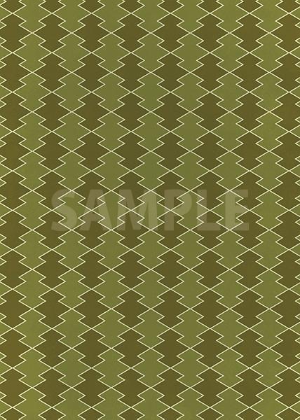 緑色の松皮菱柄A4サイズ背景素材