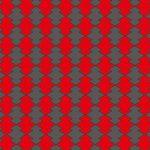 黒と赤の松皮菱柄A4サイズ背景素材