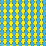 青と黄色の松皮菱柄A4サイズ背景素材