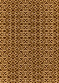 茶色の菊菱柄A4サイズ背景素材