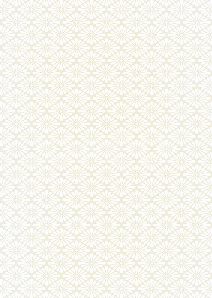 白いの菊菱柄A4サイズ背景素材