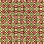 赤と緑色の菊菱柄A4サイズ背景素材