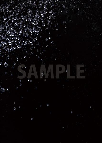 水玉が飛び散るA4サイズ背景素材