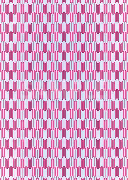 水色とピンク色の矢絣・和柄のA4サイズ背景素材