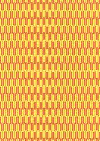 黄色とオレンジ色の矢絣・和柄のA4サイズ背景素材