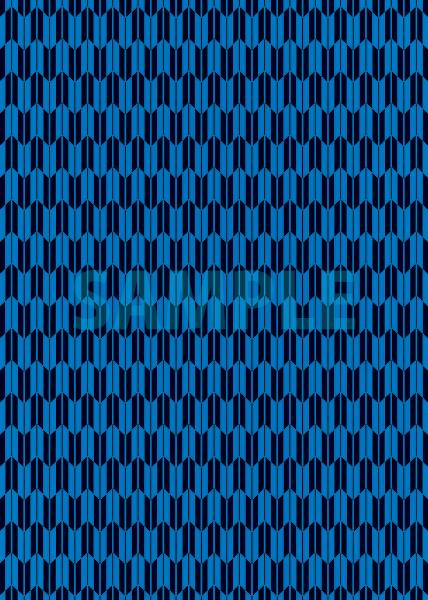 青と黒色の矢絣・和柄のA4サイズ背景素材