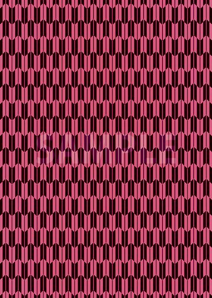 ピンクと黒色の矢絣・和柄のA4サイズ背景素材
