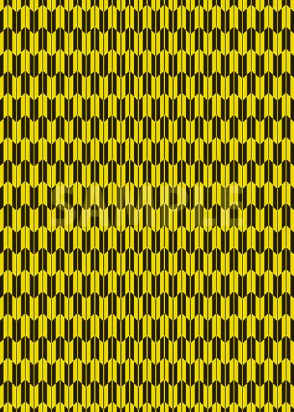 黄色と黒色の矢絣・和柄のA4サイズ背景素材