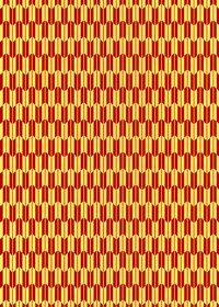 赤と黄色の矢絣・和柄のA4サイズ背景素材