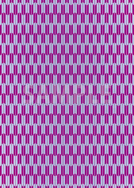 青と紫色の矢絣・和柄のA4サイズ背景素材