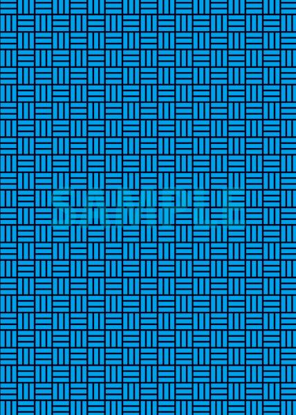黒と青色の算崩し模様・和柄のA4サイズ背景素材