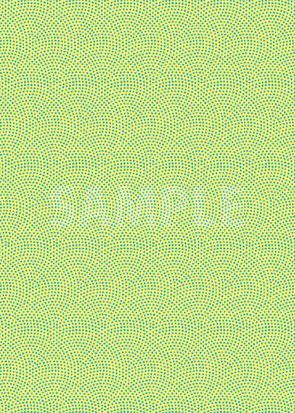 黄色と青色の鮫小紋模様・和柄のA4サイズ背景素材