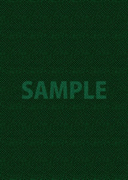 緑と黒の鮫小紋模様・和柄のA4サイズ背景素材