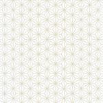 白い麻の葉柄A4サイズ背景素材